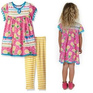 Jelly The Pug Pineapple Dress Legging Set Outfit 2